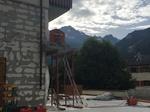 Sciage d'un balcon. Roustain Maçonnerie Sciage Béton Savoie 73